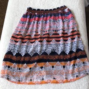 Christopher & Banks Silky Midi Skirt M